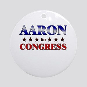 AARON for congress Ornament (Round)