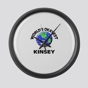 World's Okayest Kinsey Large Wall Clock