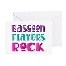 Bassoon Players Rock Greeting Card