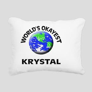 World's Okayest Krystal Rectangular Canvas Pillow