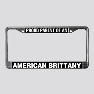 American Brittany License Plate Frame