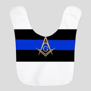 Masons Thin Blue Line Polyester Baby Bib