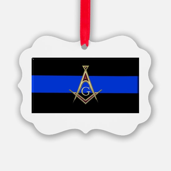 Masons Thin Blue Line Ornament