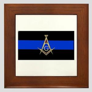 Masons Thin Blue Line Framed Tile
