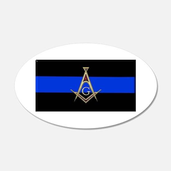 Masons Thin Blue Line Wall Decal
