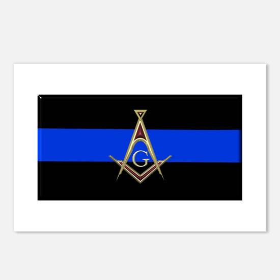 Masons Thin Blue Line Postcards (Package of 8)
