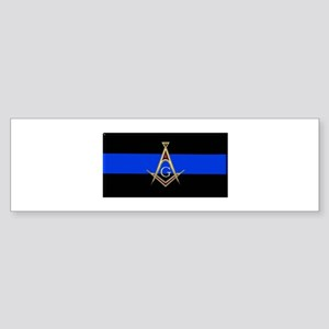 Masons Thin Blue Line Bumper Sticker