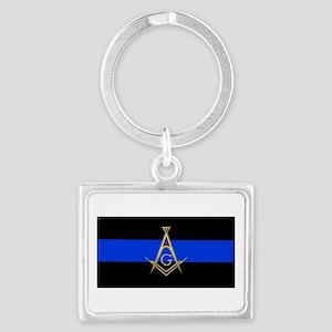 Masons Thin Blue Line Keychains