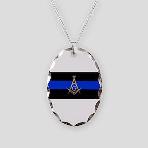 Masons Thin Blue Line Necklace