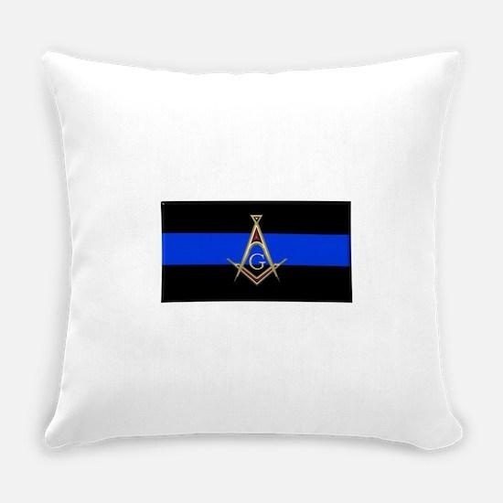 Masons Thin Blue Line Everyday Pillow