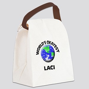 World's Okayest Laci Canvas Lunch Bag