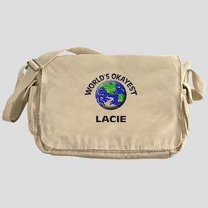 World's Okayest Lacie Messenger Bag
