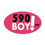 590 Boy Oval Car Magnet
