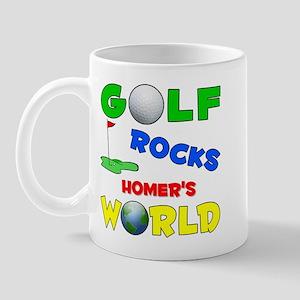 Golf Rocks Homer's World - Mug