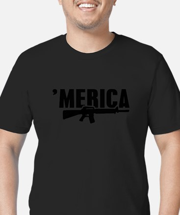 MERICA Rifle Gun T-Shirt