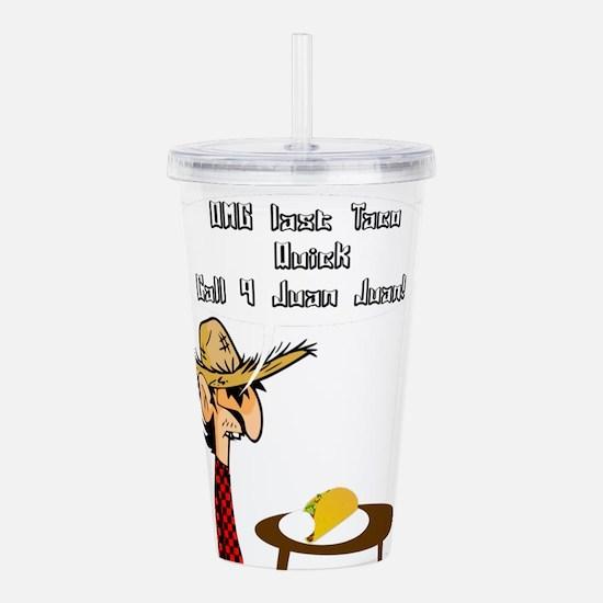 Taco Humor Acrylic Double-wall Tumbler