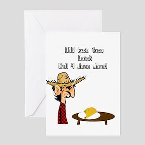 Taco Humor Greeting Cards