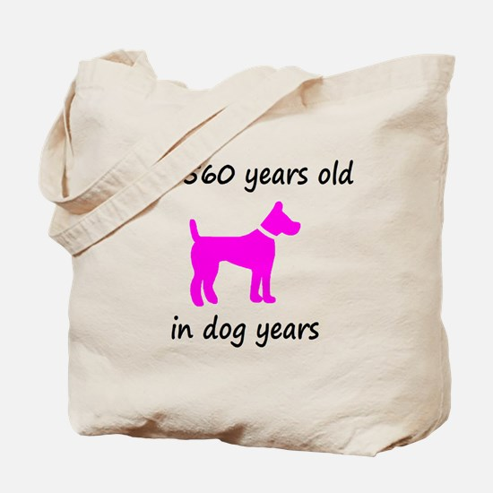 80 Dog Years Hot Pink Dog 1C Tote Bag