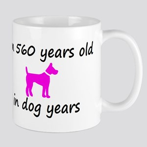 80 Dog Years Hot Pink Dog 2 Mugs