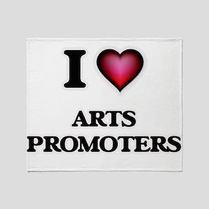 I love Arts Promoters Throw Blanket