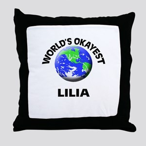 World's Okayest Lilia Throw Pillow