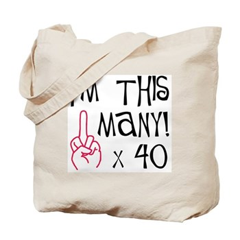 40th Birthday Middle Finger Salute! Tote Bag