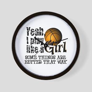 Play Like a Girl - Basketball Wall Clock
