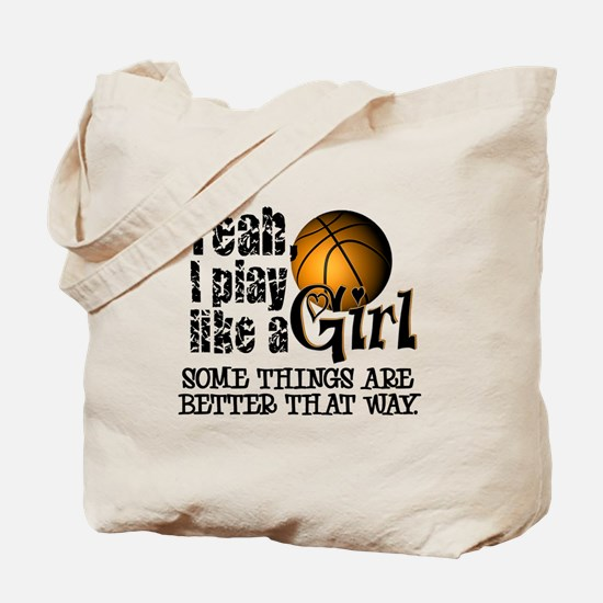 Play Like a Girl - Basketball Tote Bag
