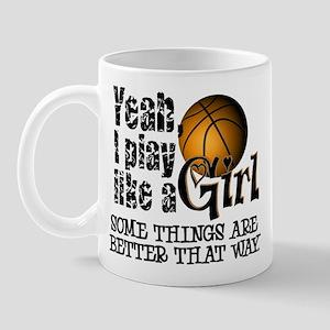 Play Like a Girl - Basketball Mug