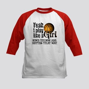 Play Like a Girl - Basketball Kids Baseball Jersey
