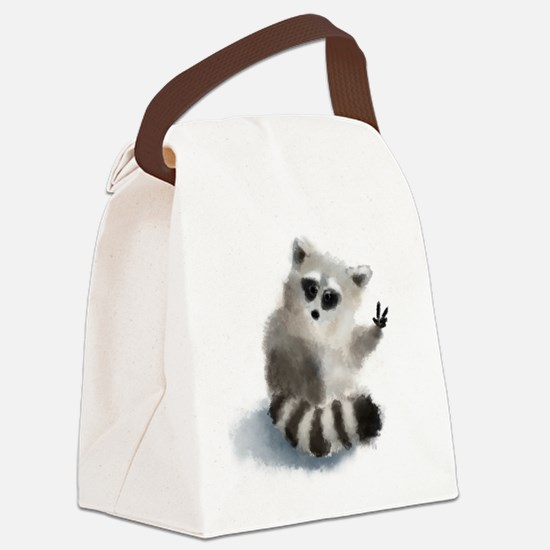 Cute Animals wild Canvas Lunch Bag
