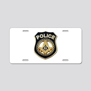 Masonic Police Aluminum License Plate