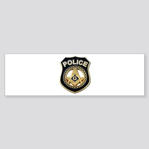 Masonic Police Bumper Sticker