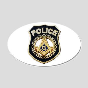 Masonic Police Wall Decal