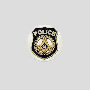 Masonic Police Mini Button