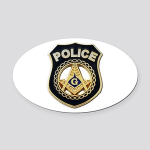 Masonic Police Oval Car Magnet