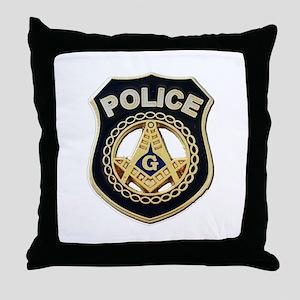 Masonic Police Throw Pillow