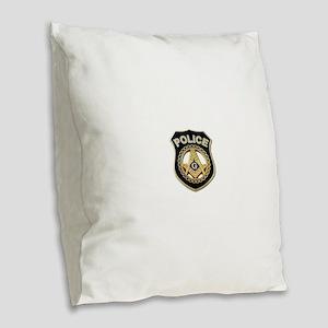 Masonic Police Burlap Throw Pillow