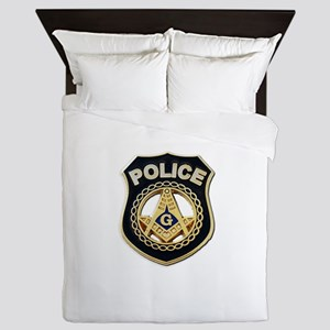 Masonic Police Queen Duvet