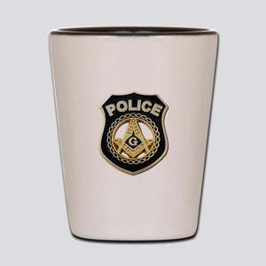 Masonic Police Shot Glass