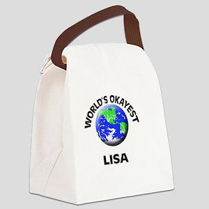 World's Okayest Lisa Canvas Lunch Bag