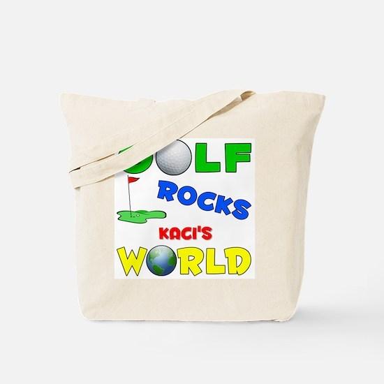 Golf Rocks Kaci's World - Tote Bag