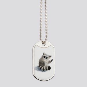 Raccoon says hello! Dog Tags