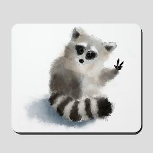Raccoon says hello! Mousepad