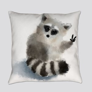 Raccoon says hello! Everyday Pillow
