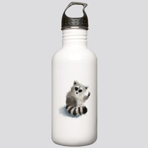 Raccoon says hello! Stainless Water Bottle 1.0L