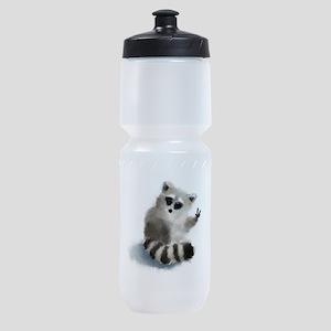 Raccoon says hello! Sports Bottle