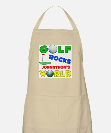 Golf Rocks Johnathon's World  BBQ Apron
