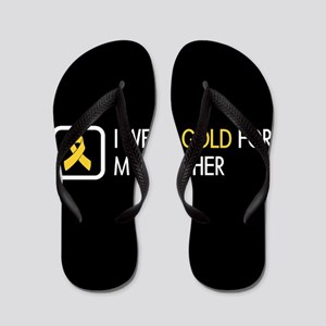 Childhood Cancer: Gold For My Brother Flip Flops