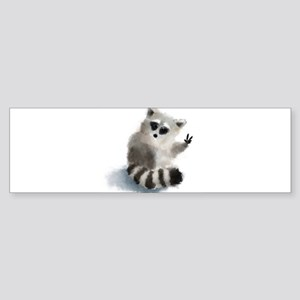 Raccoon says hello! Bumper Sticker